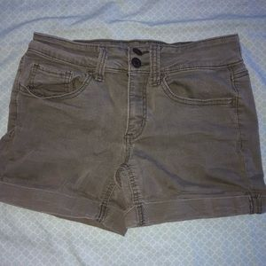 Military Green Jean Shorts